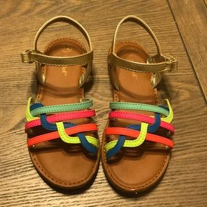 Cat and Jack Sz12 Multicolored Girls Sandals